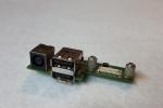 Разъем питания + USBx2 ноутбука Dell Inspiron 1525